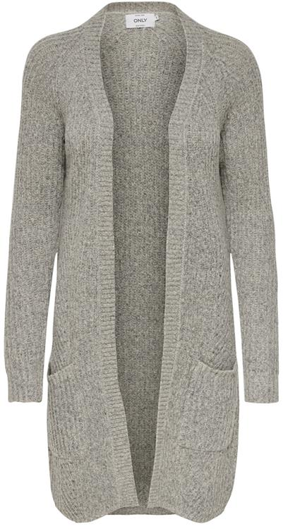 OnlBernice l/s cardigan Light grey melange