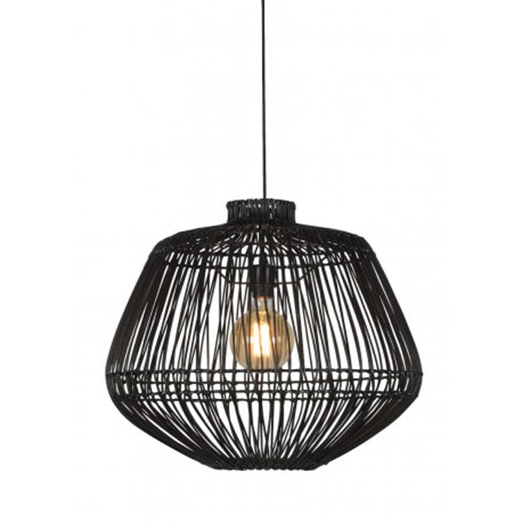Good&Mojo Madagascar hanglamp - zwart rotan