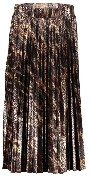 Geisha skirt snake printed plise Black/Gold