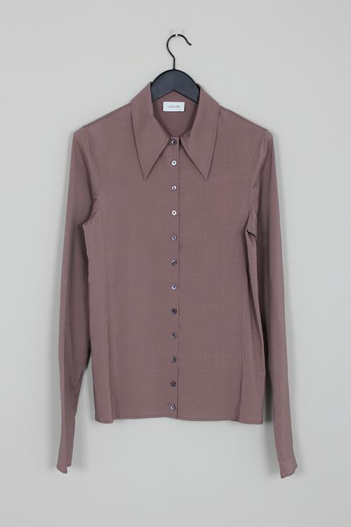 Lemaire fitted shirt deep taupe