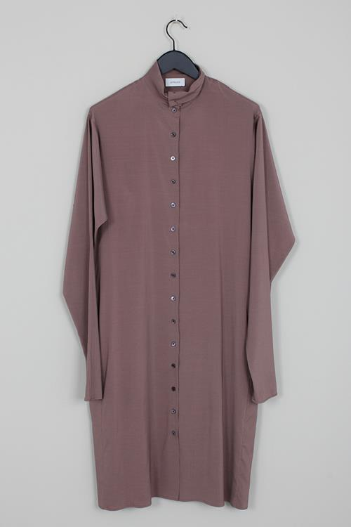 Lemaire buttoned dress deep taupe