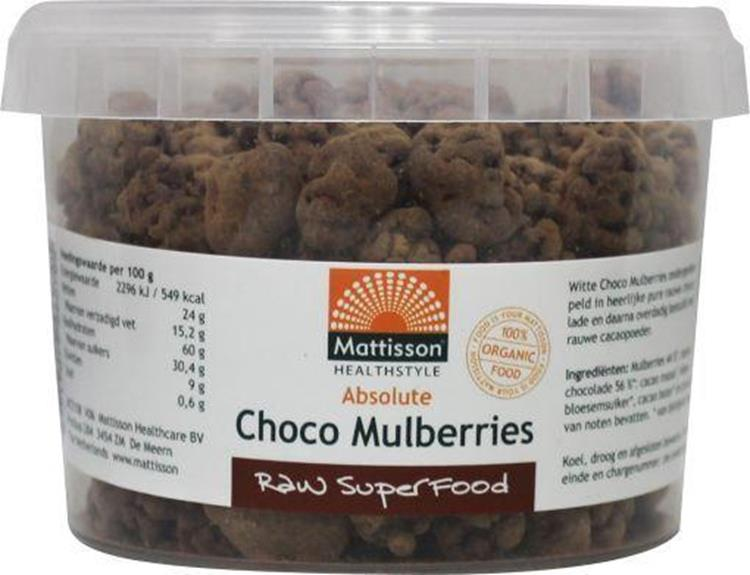 Absolute raw choco mulberries bio