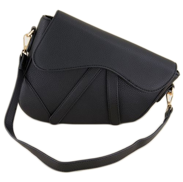 My jewelery Black half moon shoulder bag