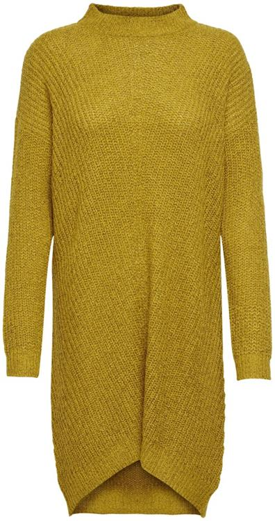 Jdymiggy megan l/s high neck dress knt Harvest gold