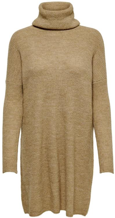 ONLJANA L/S COWLNCK DRESS WOOL KNT NOOS Indian tan