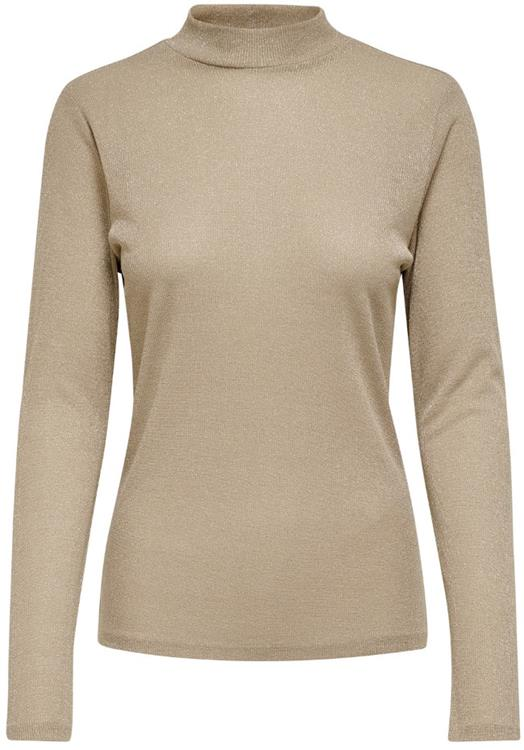 ONLDIANA LUREX L/S TOP JRS NOOS Frosted Almond