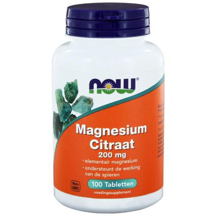 Magnesium citrate 200mg (NOW) | 100tab