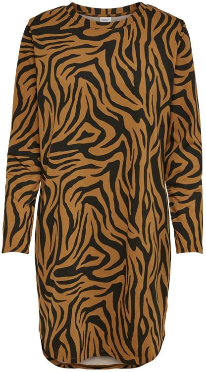 Jdyivy life l/s aop dress Leather brown/zebra