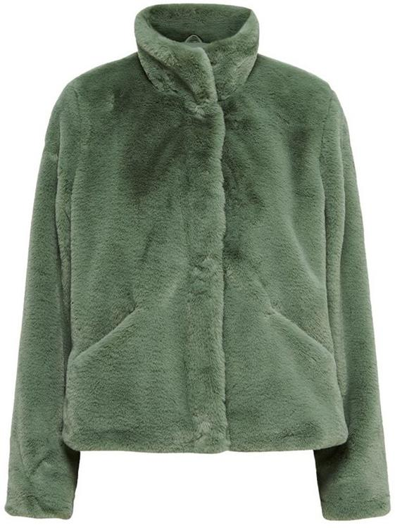 Onlvida faux fur jacket Deep Lichen Green