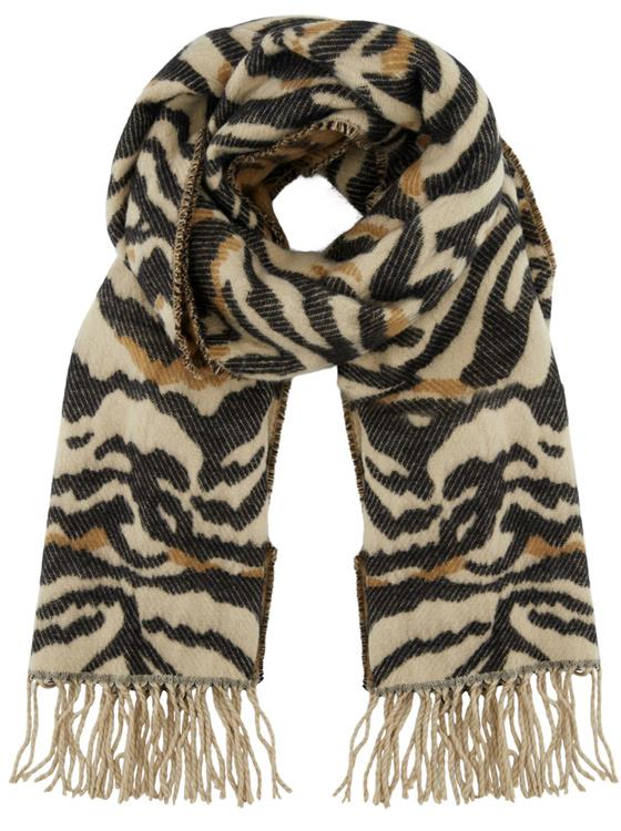 Pcsaseline long scarf Whitecap gray/black/brown