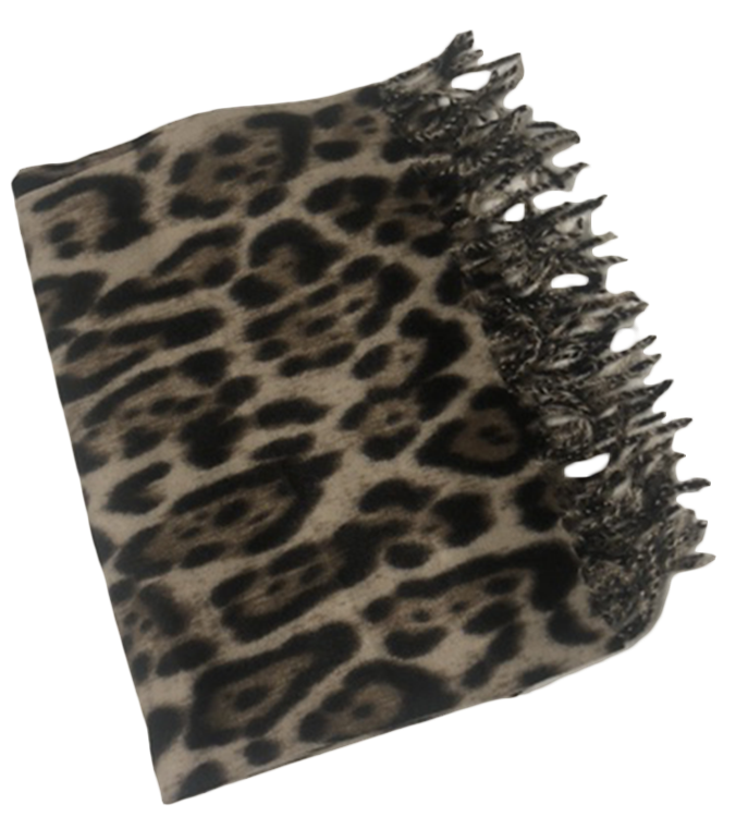 B-fashion scarf multicolour animal Leopard
