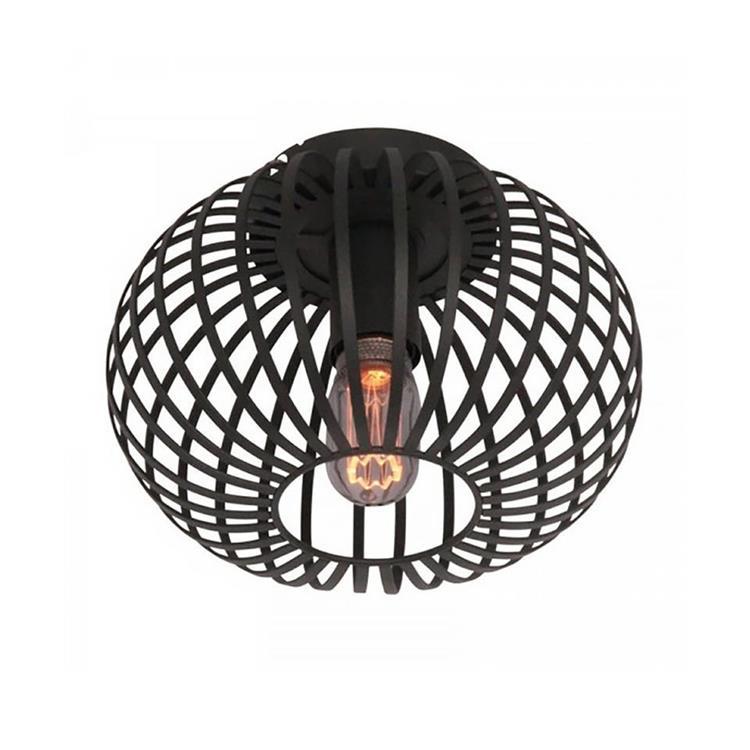 Freelight plafondlamp Aglio 25 cm - zwart