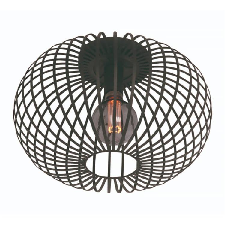 Freelight plafondlamp Aglio 40 cm - zwart