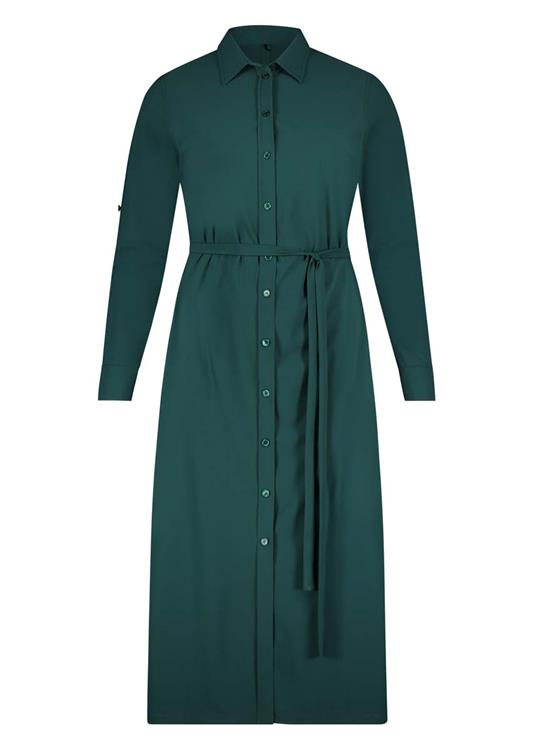 Plusbasics blouse_dress 10201169 Groen