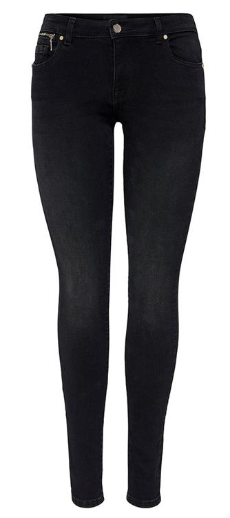 Onlisaa4 life reg skinny zip Black denim