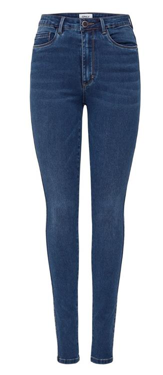 Onlroyal life hw skinny Dark blue denim