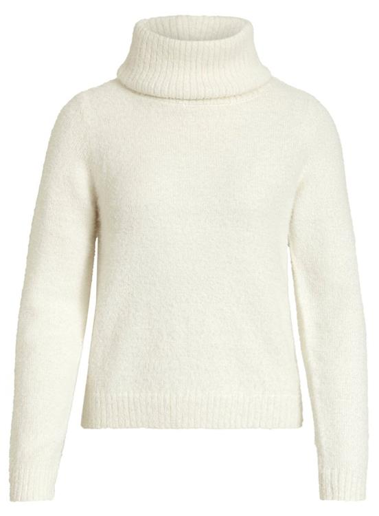 Vifeami rollneck l/s knit top Whisper white