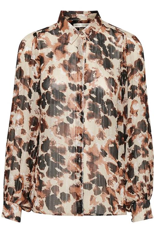 Inwear - Gertie Shirt Beige Animal Flock