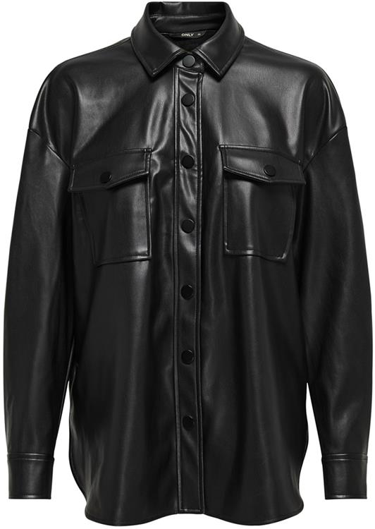 Onlbrylee-dionne faux leather shirt Black