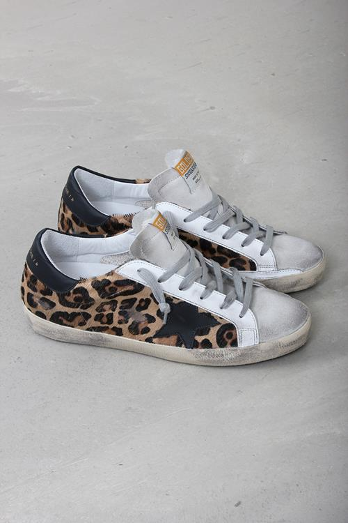 Golden Goose sneaker superstar snow leopard black star