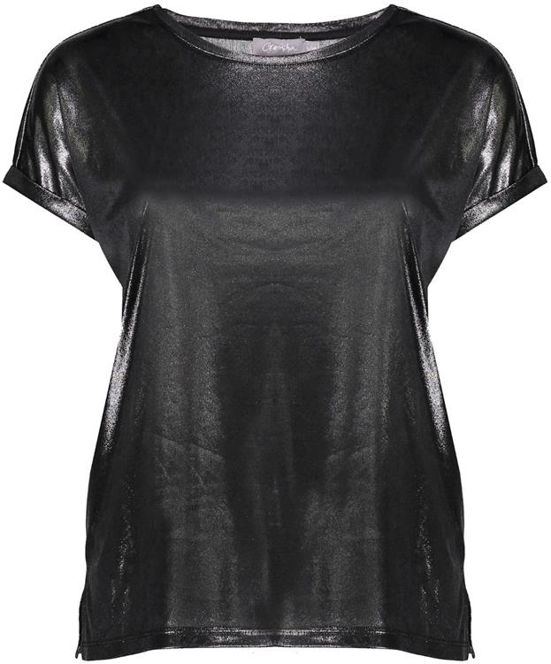 Geisha t-shirt metallic Anthracite