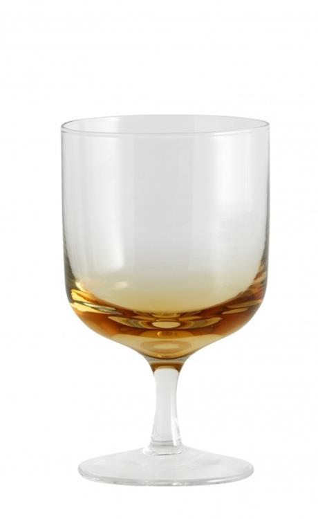 Nordal Jog wijnglas - helder/amber
