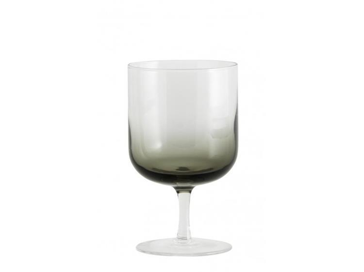Nordal Jog wijnglas - helder/zwart