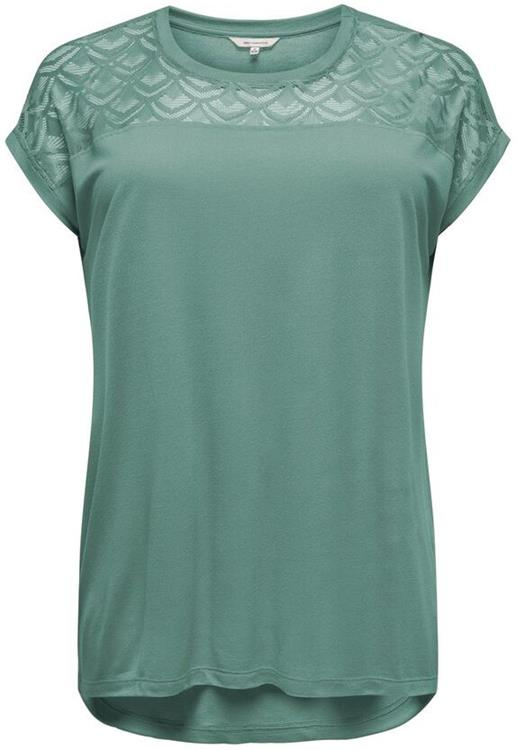 Carflake s/s mix top noos Chinois green