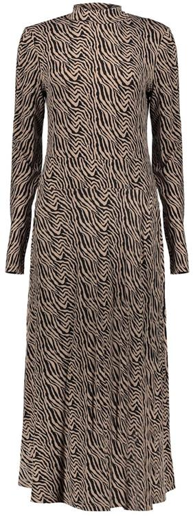Geisha dress bi-color zebra knitted Sand