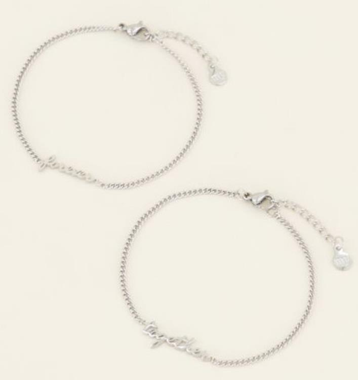 My Jewellery Forever together armband set Zilver