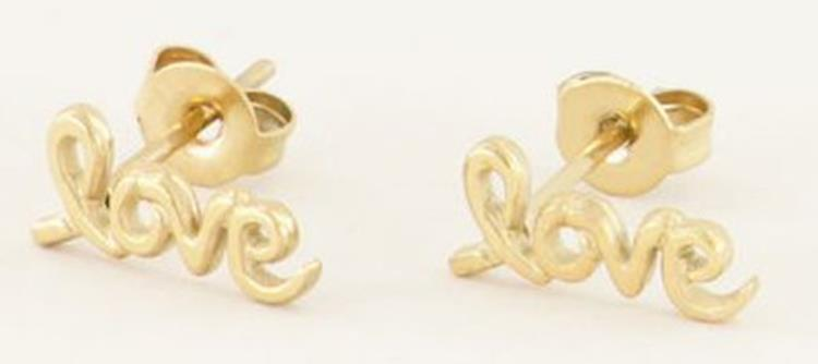 My jewellery Oorbellen studs love gold