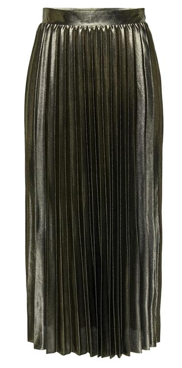 Onlhailey pleated skirt Gold Color