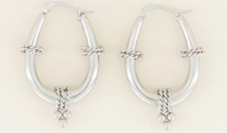 My Jewellery earring oval shape silver