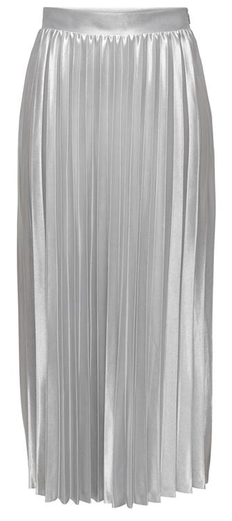 Onlhailey pleated skirt Silver