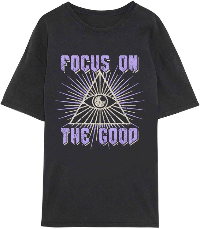 Vmforever oversized t-shirt exp Black/purple focus on the good
