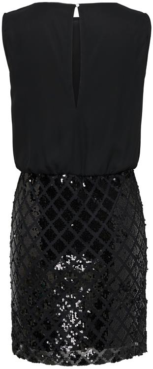 Jdyozark s/l party dress wvn Black/black sequin