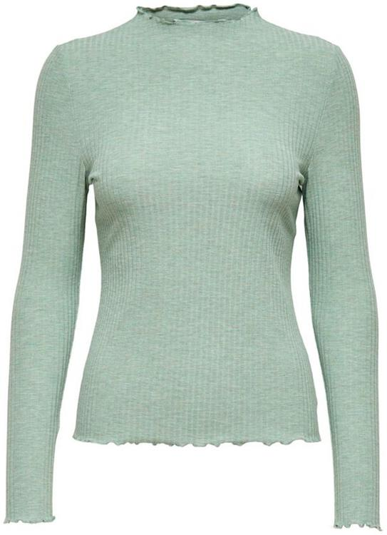 Onlemma l/s high neck top Chinois green/melange