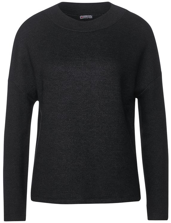 Street one ltd qr turtle neck shirt Anthracite melange