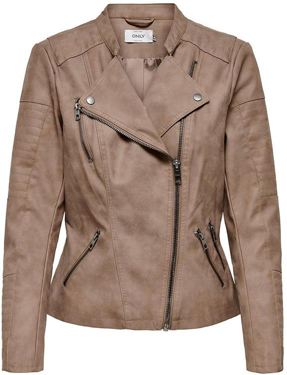 Onlava faux leather biker woodsmoke