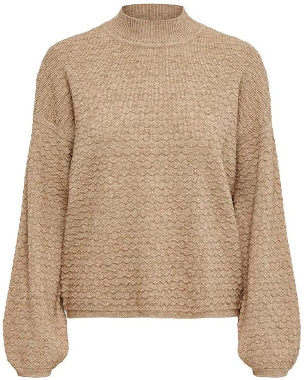 Onlmarylynn l/s pullover knt Toasted coconut/w. melange