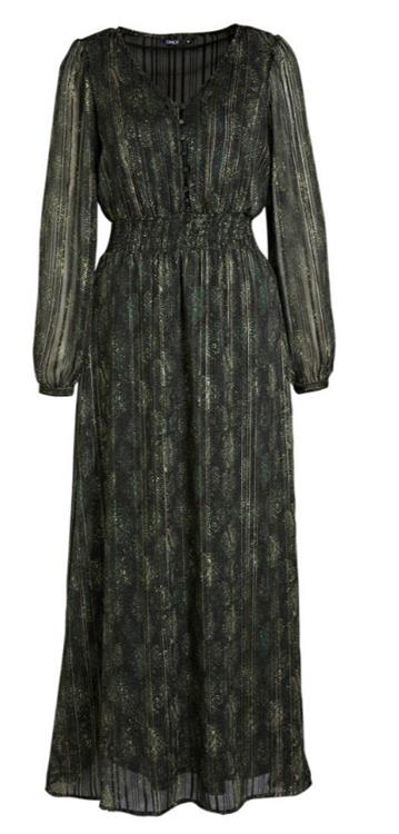 Onlfee l/s ancle dress wvn Green gables/maddison