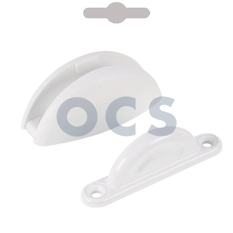OCS deurvanger plopp 2-delig - wit
