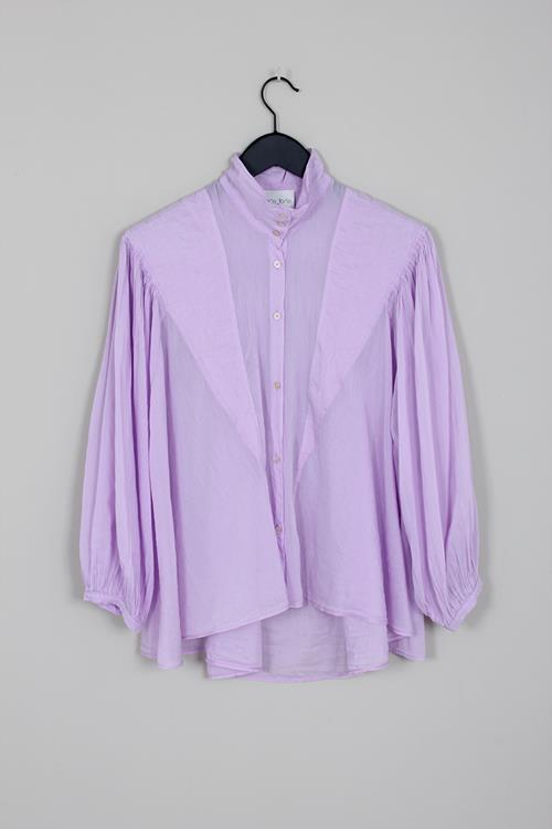 Forte Forte voile bohemian shirt lilac