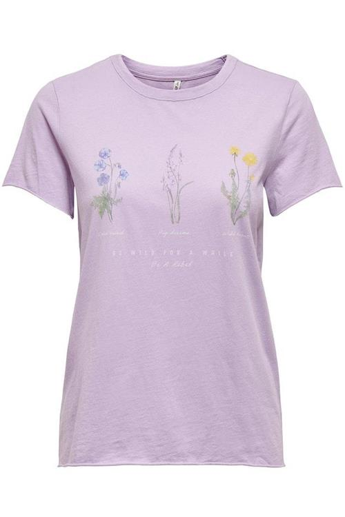 Only Lucy Life Reg S/S Wildflower top