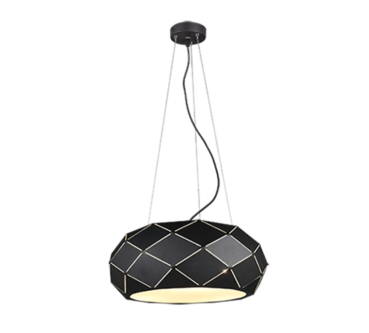 Trio hanglamp Zandor 3xE27 - mat zwart