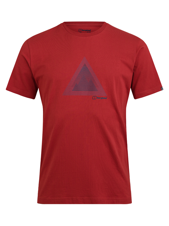 Berghaus Abstract Mtn T Shirt Am Red/Red Shirt Heren