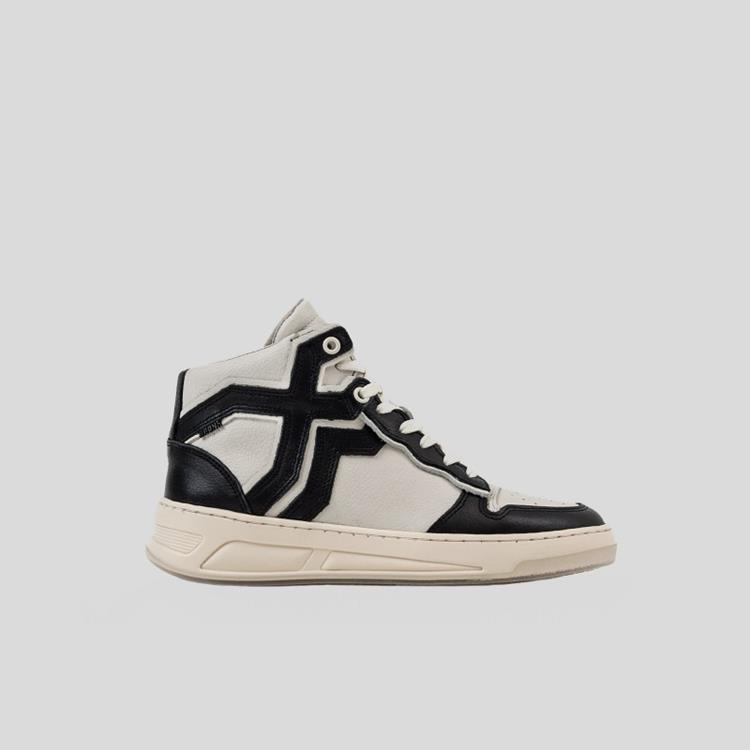 Bronx Sneaker Old-Cosmo High Top Zwart/Off White