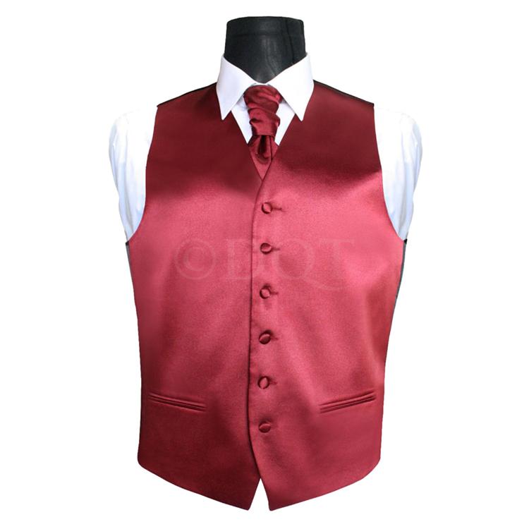 6 delig antraciet grijs kostuum gekleurd vest stropdas burgundy - Grijs gekleurd ...