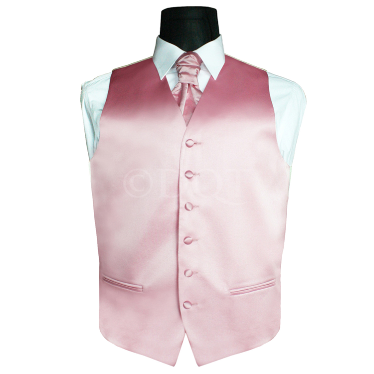 6 delig antraciet grijs kostuum gekleurd vest plastron baby pink - Grijs gekleurd ...