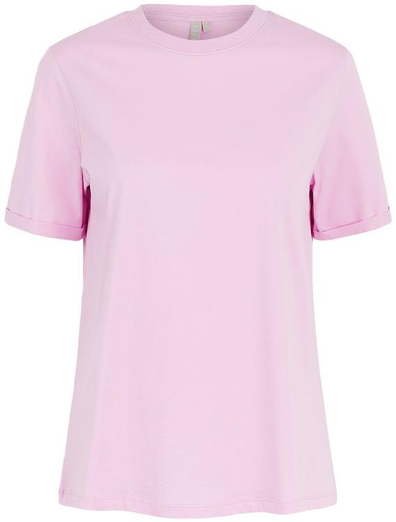 Pcria ss fold up solid tee noos bc Pastel lavender